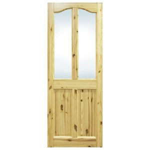 Seadec Longford Red Pine 2 Panel Curved Unglazed