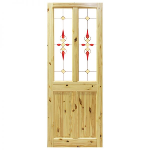 Seadec Waterford Red Pine 2 panel with Glass type 2