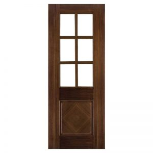 INTERNAL GLAZED WALNUT DOOR DEANTA