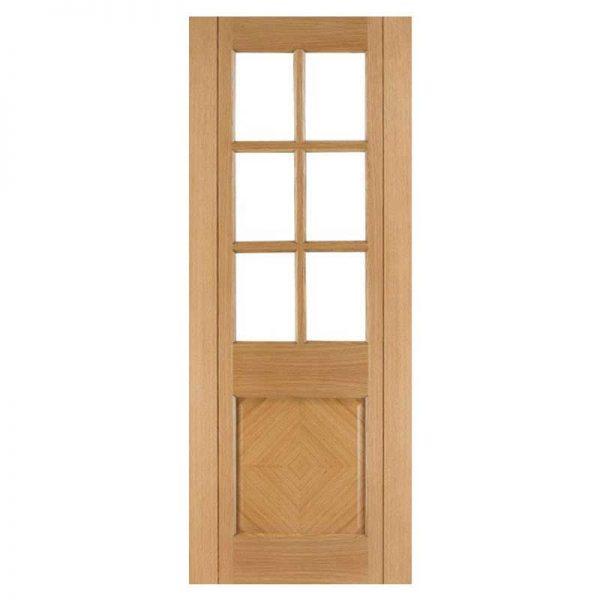 internal oak glazed door deanta