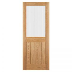 internal oak glazed door deanta