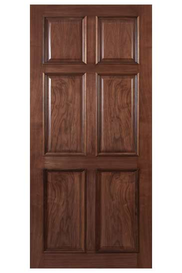 solid wallnut doors