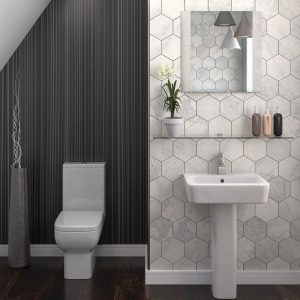 Nova bathroom Suite at burkes homevalue Kantruk