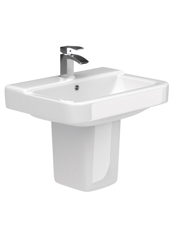 Rio Bathroom Suite 550mm basin and semi pedestal