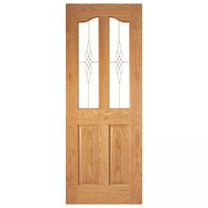 Seadec Longford Oak 1 Panel Curved with Glass type 3