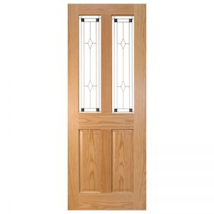Seadec Waterford Oak 2 Panel door with Glass type 1